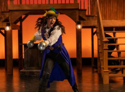 """Sarah Shin in Greater Boston Stage Company and Front Porch Arts Collective's co-production of """"The Three Musketeers."""""""