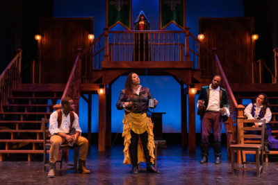"A performance of Greater Boston Stage Company and Front Porch Arts Collective's co-production of ""The Three Musketeers"" (Courtesy)"