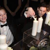 Dylan Siegel (right) and Jonah Pournazarian(left) at Jonah's Bar Mitzvah (Courtesy David Siegel)