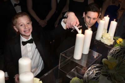 Dylan Siegel (right) and Jonah Pournazarian(left) at Jonah's Bar Mitzvah (Courtesy David Siegel)