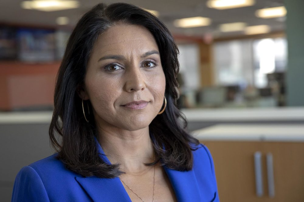 Tulsi Gabbard, U.S. representative for Hawaii's 2nd Congressional District and Democratic presidential candidate (Robin Lubbock/WBUR)