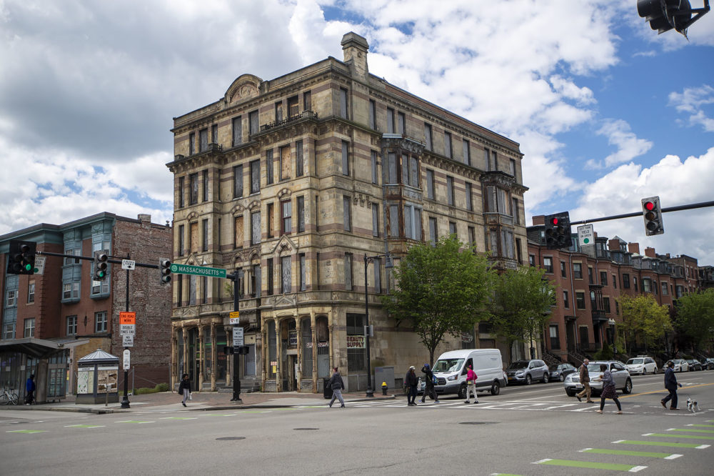 The Alexandra Hotel on Washington St. Boston officials classified the redevelopment as a South End project, but the building is actually in Roxbury. (Jesse Costa/WBUR)
