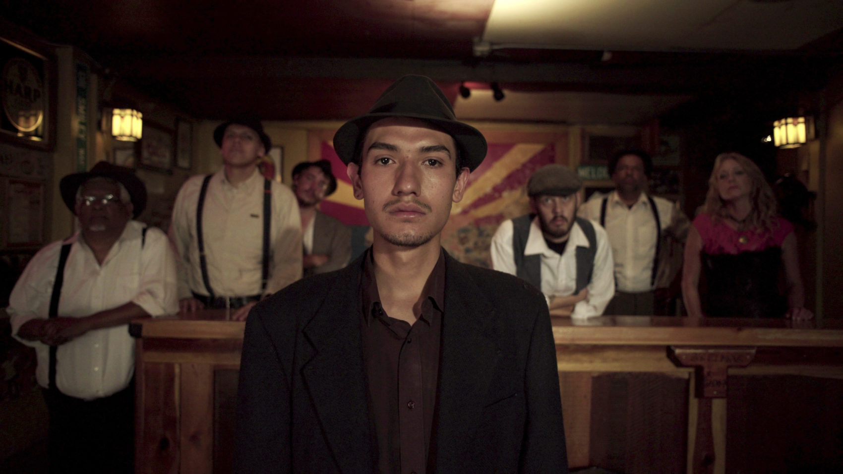 "Fernando Serrano, who plays a striking miner in ""Bisbee '17,"" a story of nearly 2,000 miners, most of them immigrants, were pulled violently from their homes and businesses in Bisbee, Ariz., for deportation to the New Mexico desert in 1917. (Jarred Alterman/4th Row Films via AP)"