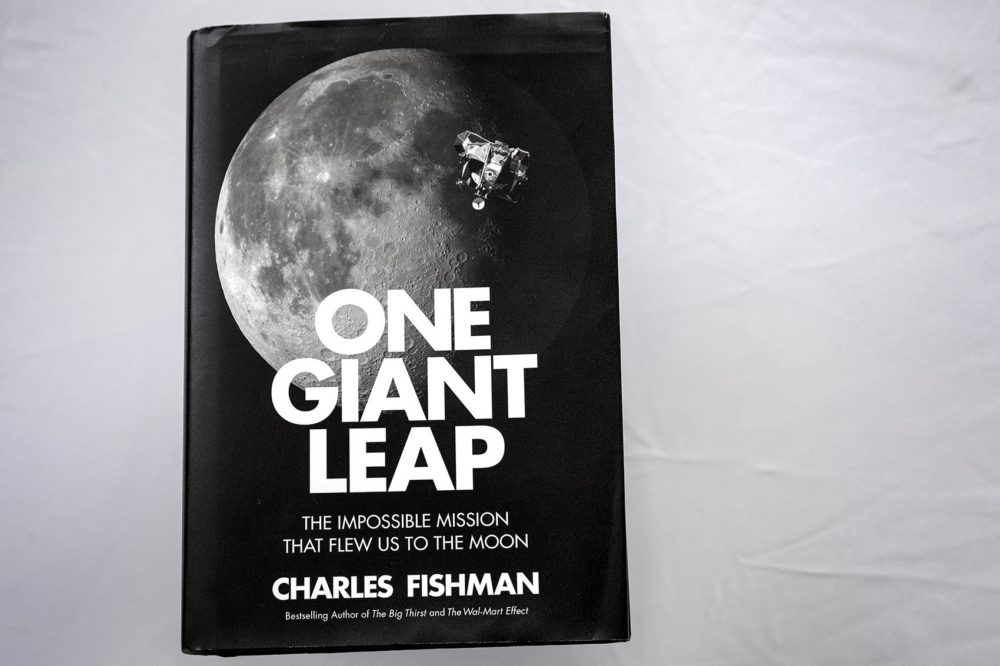 """One Giant Leap: The Impossible Mission That Flew Us to the Moon,"" by Charles Fishman. (Robin Lubbock/WBUR)"