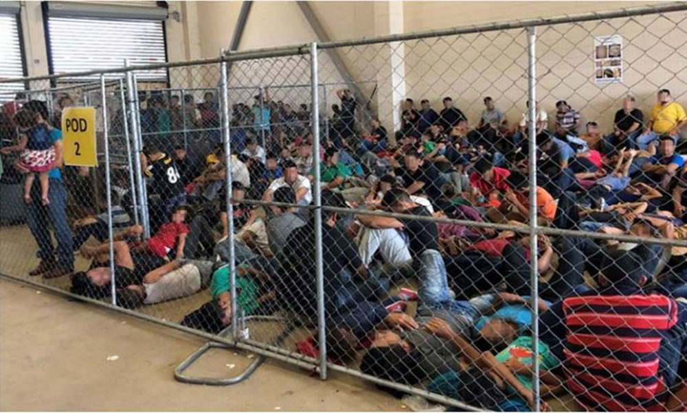 The Inspector General at the Department of Homeland Security observed overcrowding of families on June 10 at a detention center in McAllen, Texas. (Office of Inspector General)