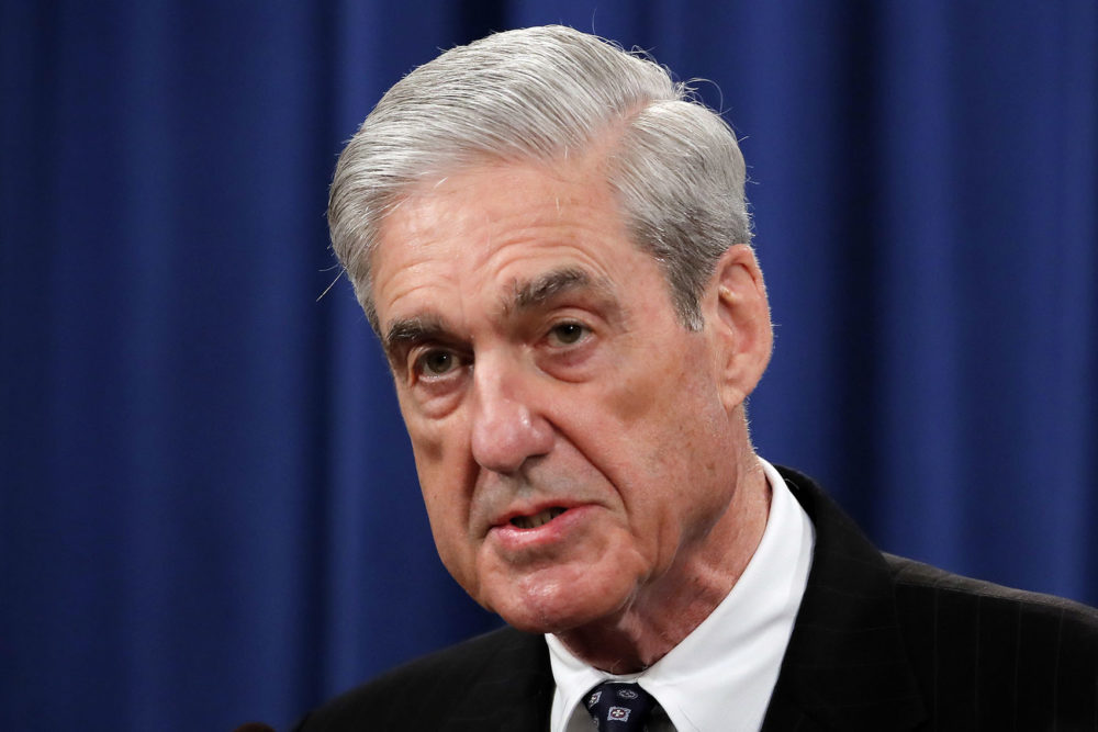 In this May 29 file photo, Special Counsel Robert Mueller speaks at the Department of Justice in Washington, about the Russia investigation. (Carolyn Kaster/AP)