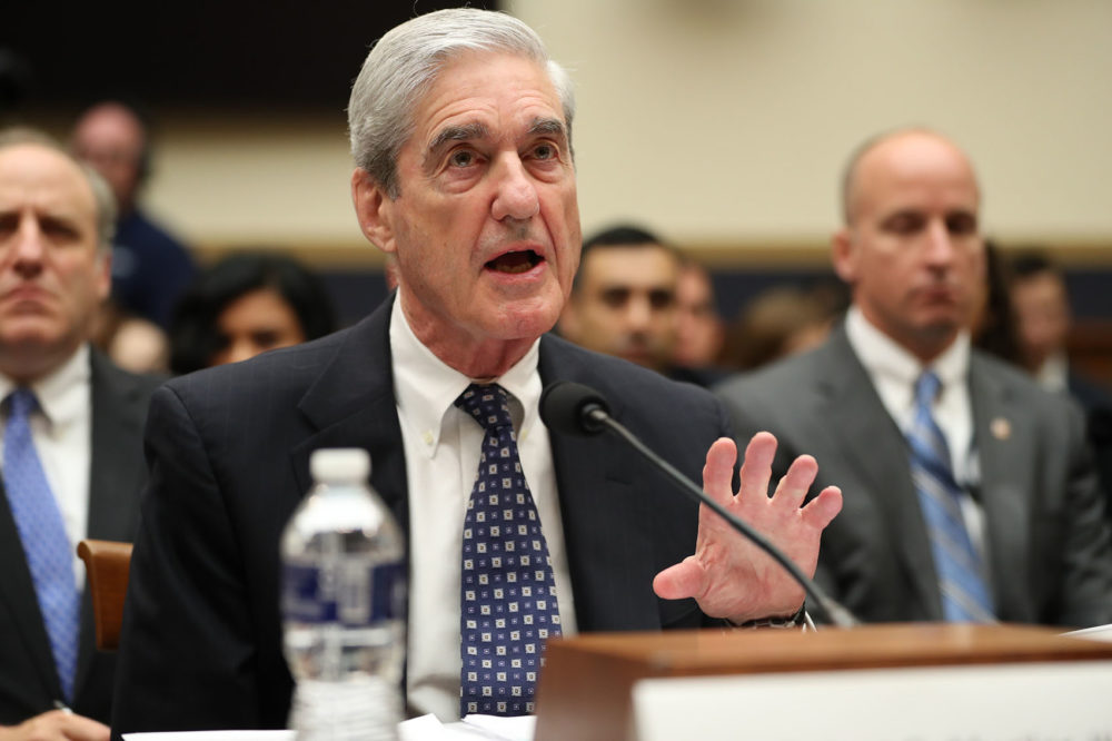 Former special counsel Robert Mueller testifies before the House Judiciary Committee hearing on his report on Russian election interference, on Capitol Hill, in Washington, Wednesday, July 24, 2019. (Andrew Harnik/AP)