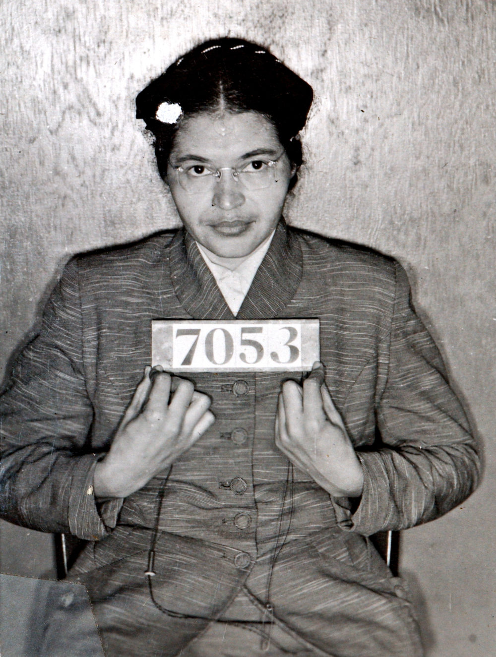 A Montgomery (Ala.) Sheriff's Department booking photo of Rosa Parks taken Feb 22, 1956, after she was arrested for refusing to give up her seat on a bus for a white passenger.  (AP via Montgomery County Sheriff's office)