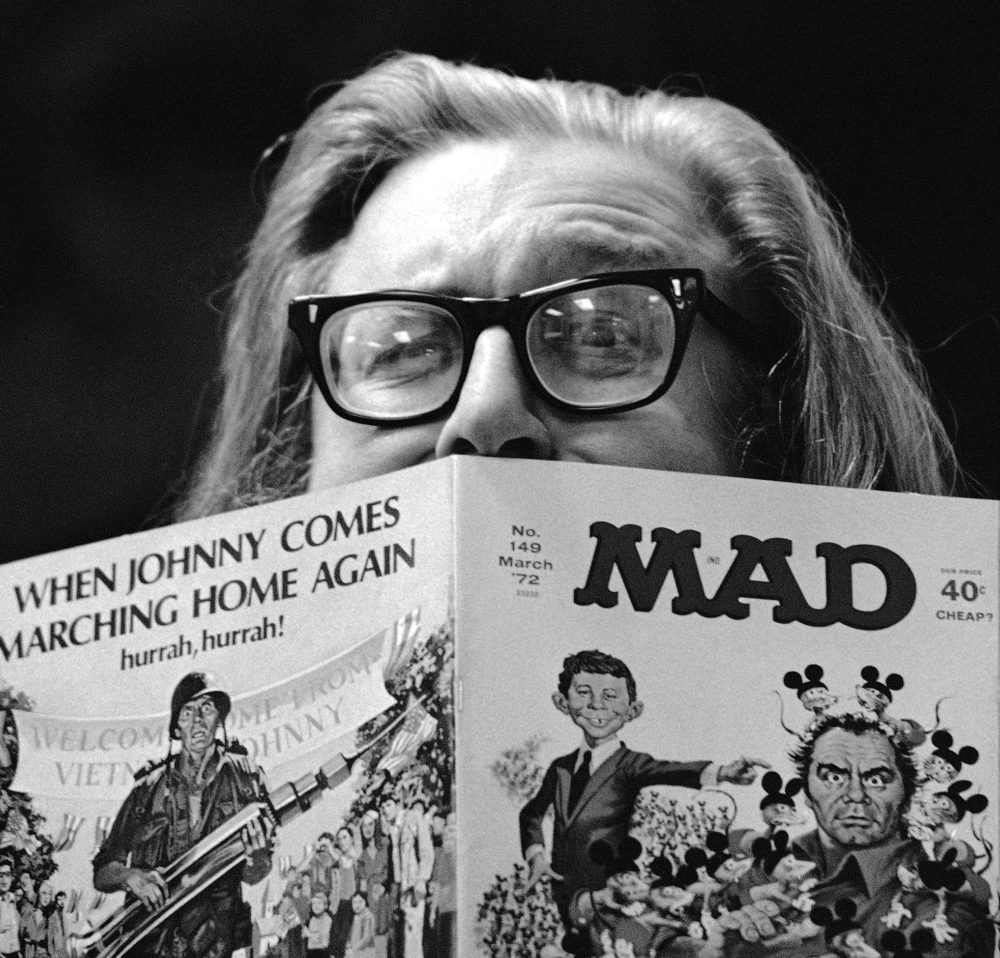 William Gaines, publisher of MAD magazine in 1970. Location unknown. (AP)