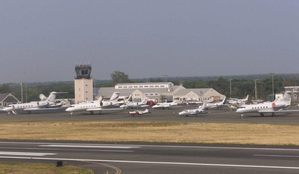 Martha's Vineyard Airport is seen in this aerial photo (Suzanne Plunkett/AP)