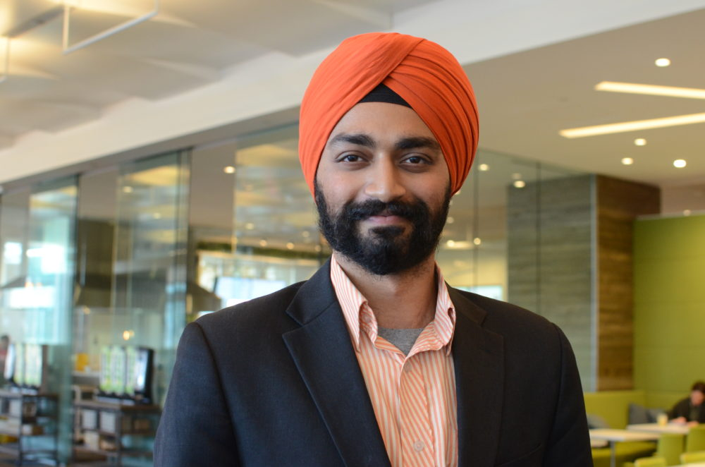 "Last Thursday morning, Kanwar Singh, pictured here, was in Boston's Downtown Crossing, when a woman yelled, ""Go back to your country!"" (Courtesy)"