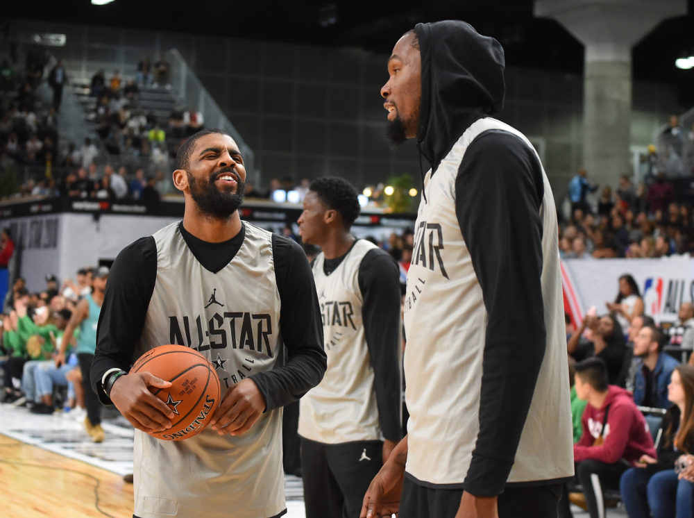 Kyrie Irving and Kevin Durant will be teaming up in Brooklyn. (Jayne Kamin-Oncea/Getty Images)