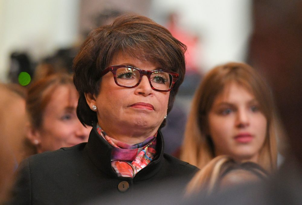 Former senior adviser Valerie Jarrett spoke to host Robin Young about President Trump and his administration. (Mandel Ngan/AFP/Getty Images)