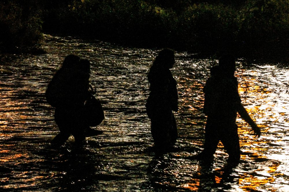 Central American migrants cross the Rio Grande river in Ciudad Juarez, state of Chihuahua, Mexico, on June 12, 2019. (Herika Martinez /AFP/Getty Images)