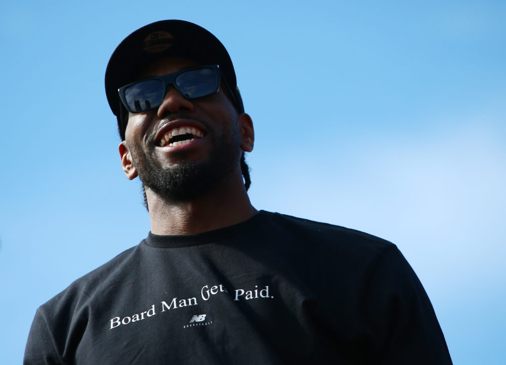 Kawhi Leonard's contract includes a player option after the 2020–21 season. (Vaughn Ridley/Getty Images)