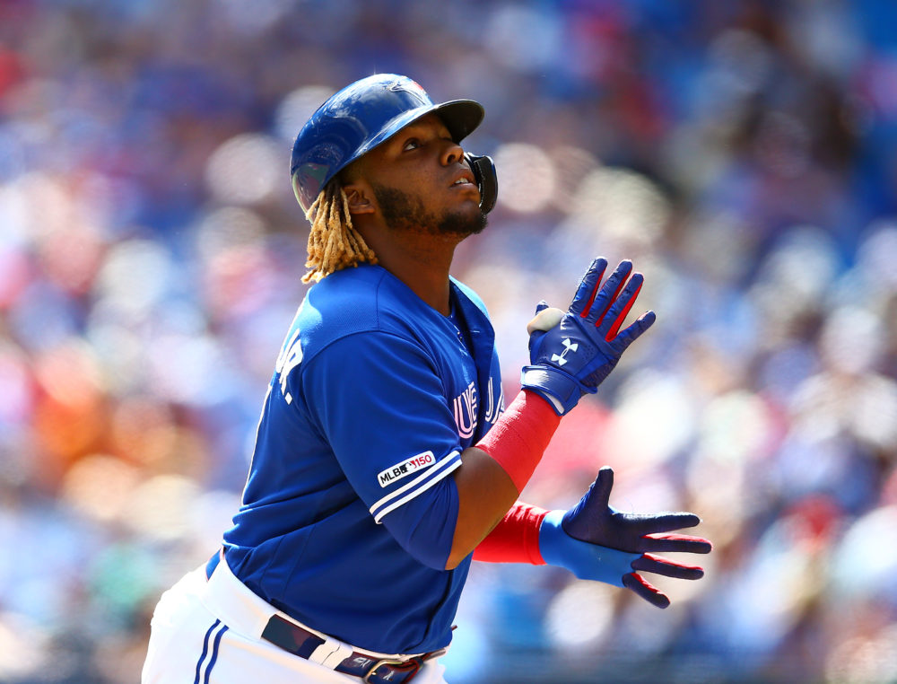 Vladimir Guerrero Jr.'s father also began his Major League career in Canada. (Vaughn Ridley/Getty Images)