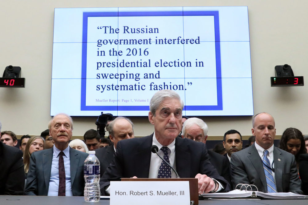 Former special counsel Robert Mueller testifies before a House Judiciary Committee hearing about his report on Russian interference in the 2016 presidential election in the Rayburn House Office Building July 24, 2019 in Washington, D.C. (Jonathan Ernst - Pool/Getty Images)