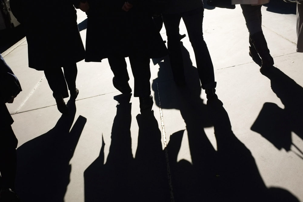 Businessmen and shoppers walk along Madison Avenue on Nov. 1, 2011 in New York City. (Spencer Platt/Getty Images)