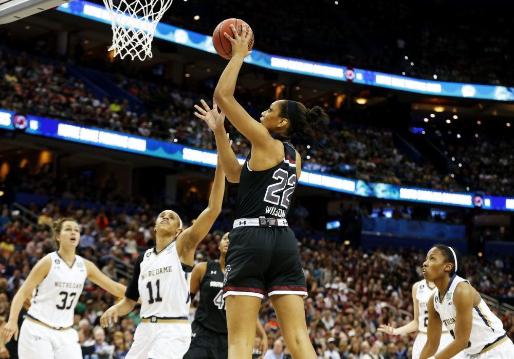 A'ja Wilson was selected No. 1 overall in the 2018 WNBA Draft. (Mike Carlson/Getty Images)