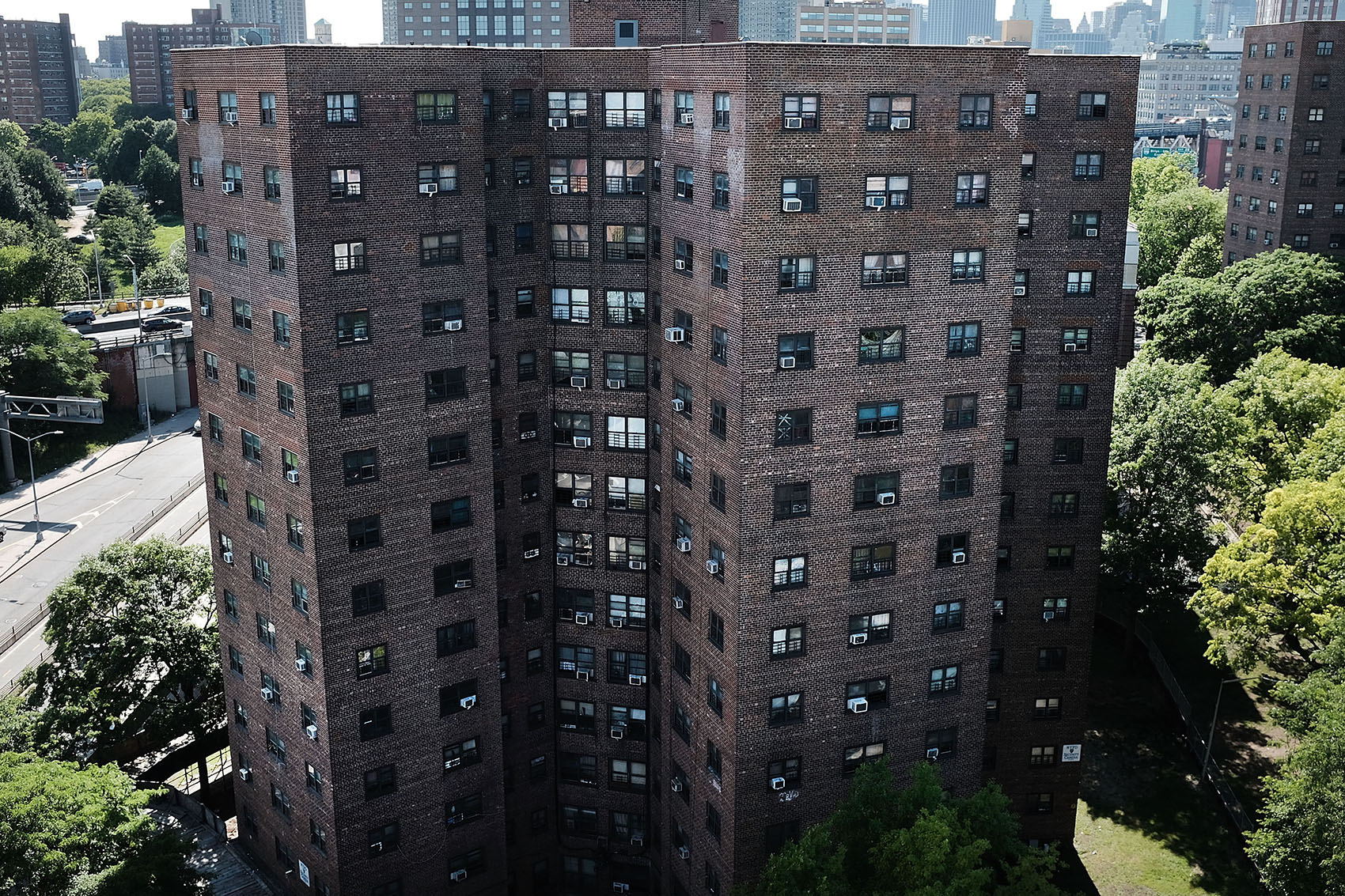 Public housing stands in Brooklyn on June 11, 2018 in New York City. (Spencer Platt/Getty Images)