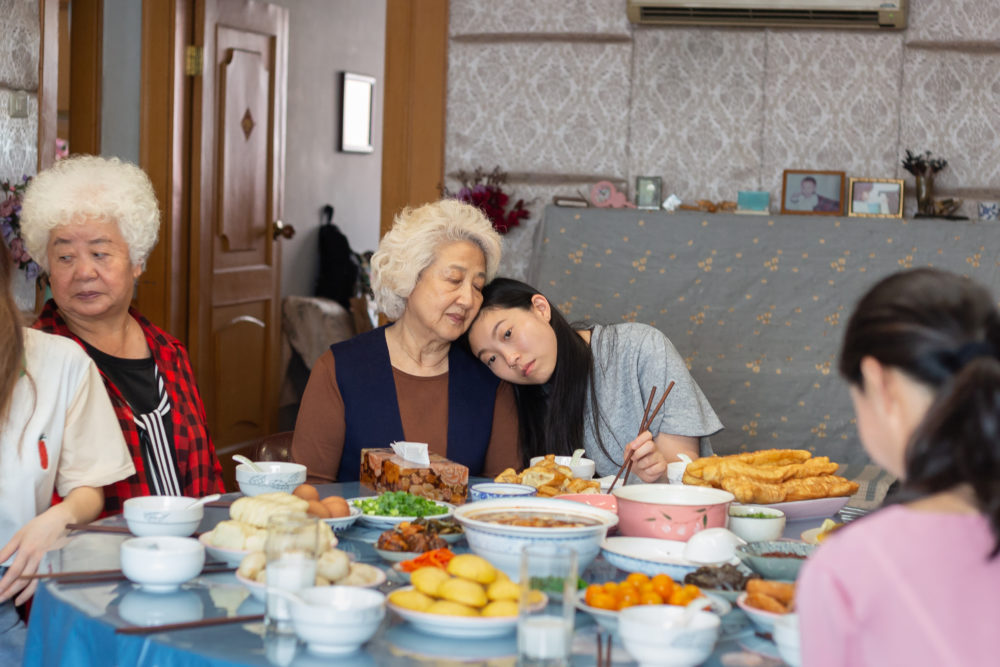 "A scene from the new movie, ""The Farewell."" (Courtesy of the production)"
