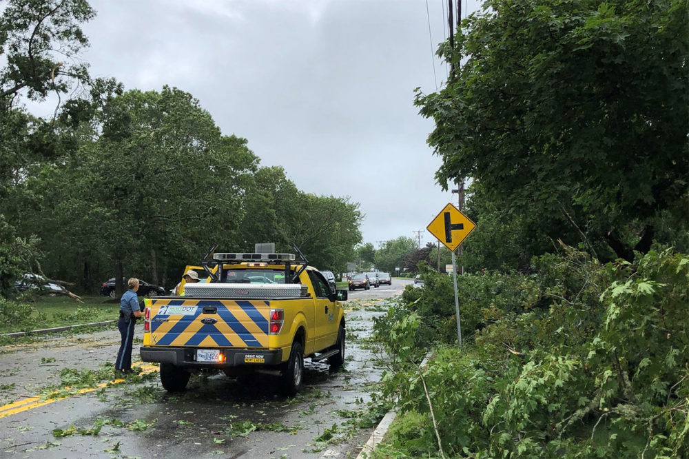 A tornado struck Yarmouth just after noon Tuesday. (Courtesy of the town of Yarmouth)