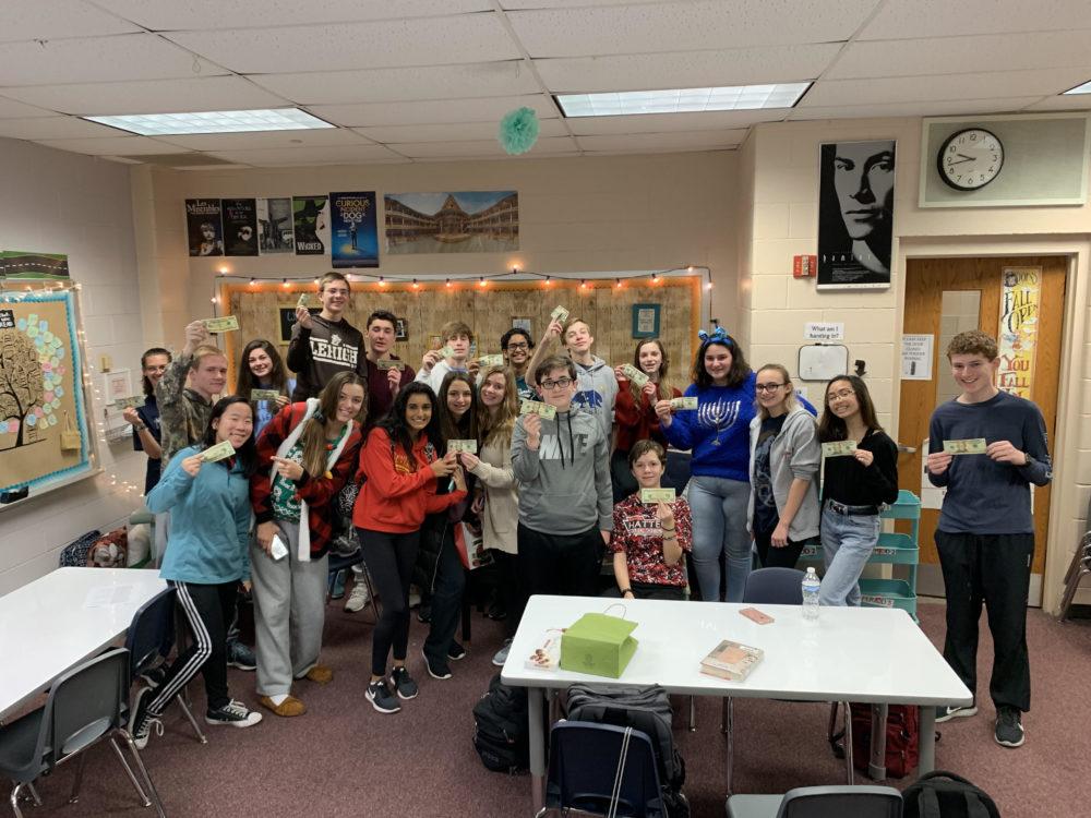 Kristina Ulmer's 9th-grade English class participated in the $20 Challenge (Courtesy Kristina Ulmer)