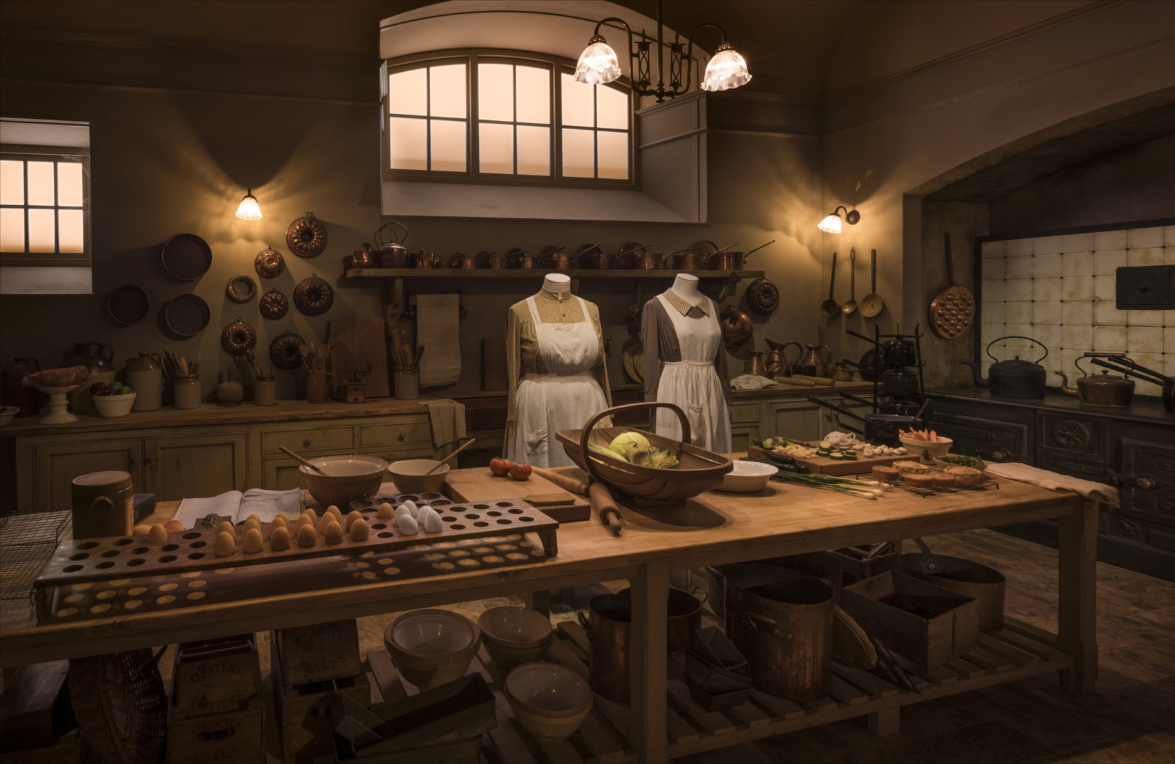 "A room inside ""Downton Abbey: The Exhibition."" (Courtesy Rodolfo Martinez/NBCUniversal International)"