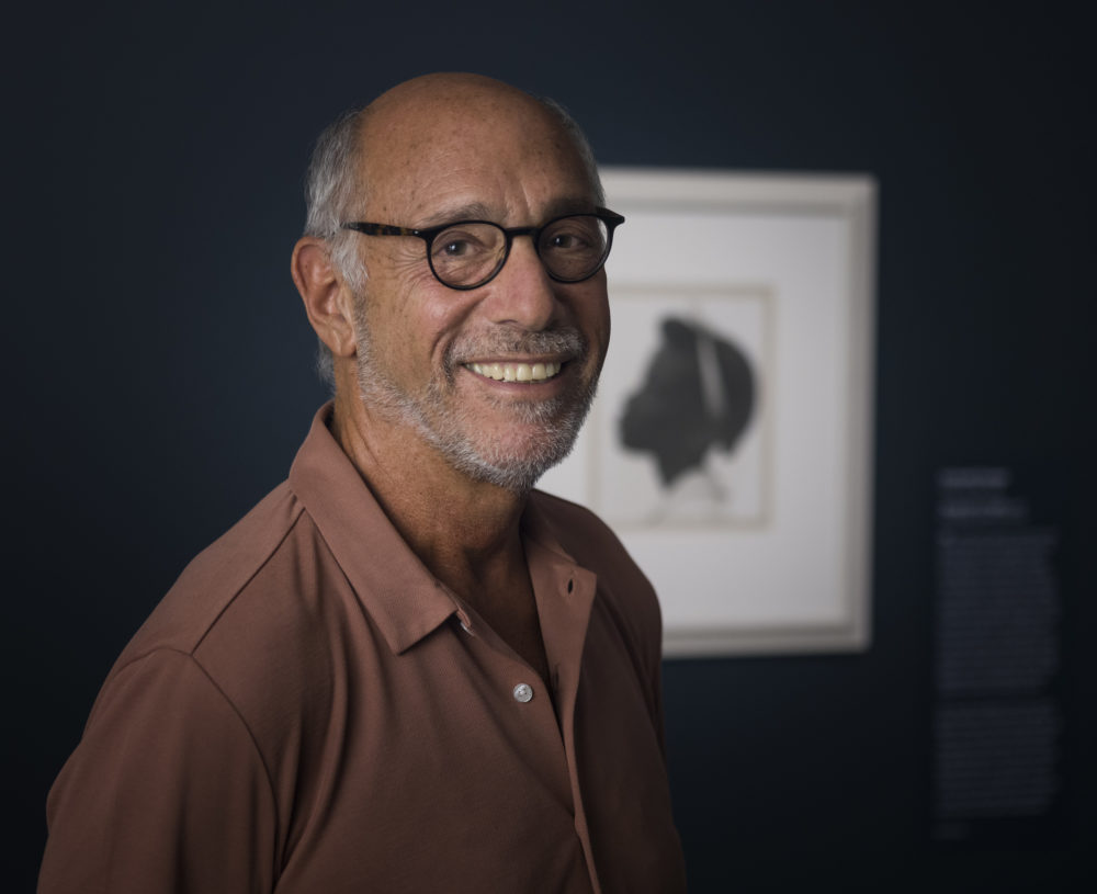 """Howard Greenberg in the exhibition """"Viewpoints: Photographs from the Howard Greenberg Collection"""" at the Museum of Fine Arts, Boston; Lois B. and Michael K. Torf Gallery. (Courtesy MFA Boston)"""