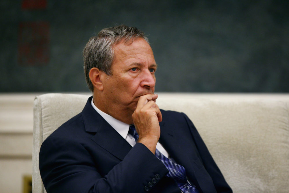 Larry Summers in Beijing, China, on Sept. 6, 2010.  (Feng Li/AP/Pool)