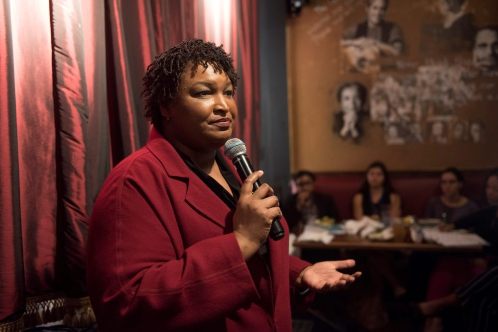 Former Georgia House Minority Leader Stacey Abrams speaks at an event on Wednesday, April 10, 2019 in Washington, D.C. (Kevin Wolf/AP Images for The Roosevelt Institute)