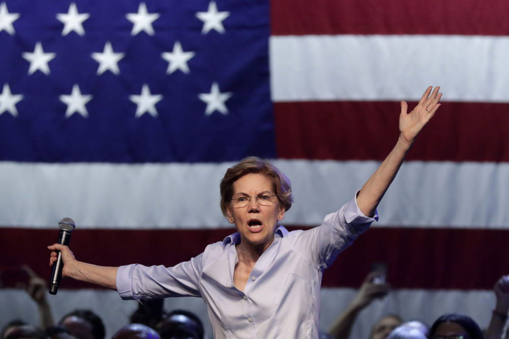 Democratic presidential candidate Sen. Elizabeth Warren speaks at a campaign event in Tempe, Arizona, on Aug. 1. (Matt York/AP)