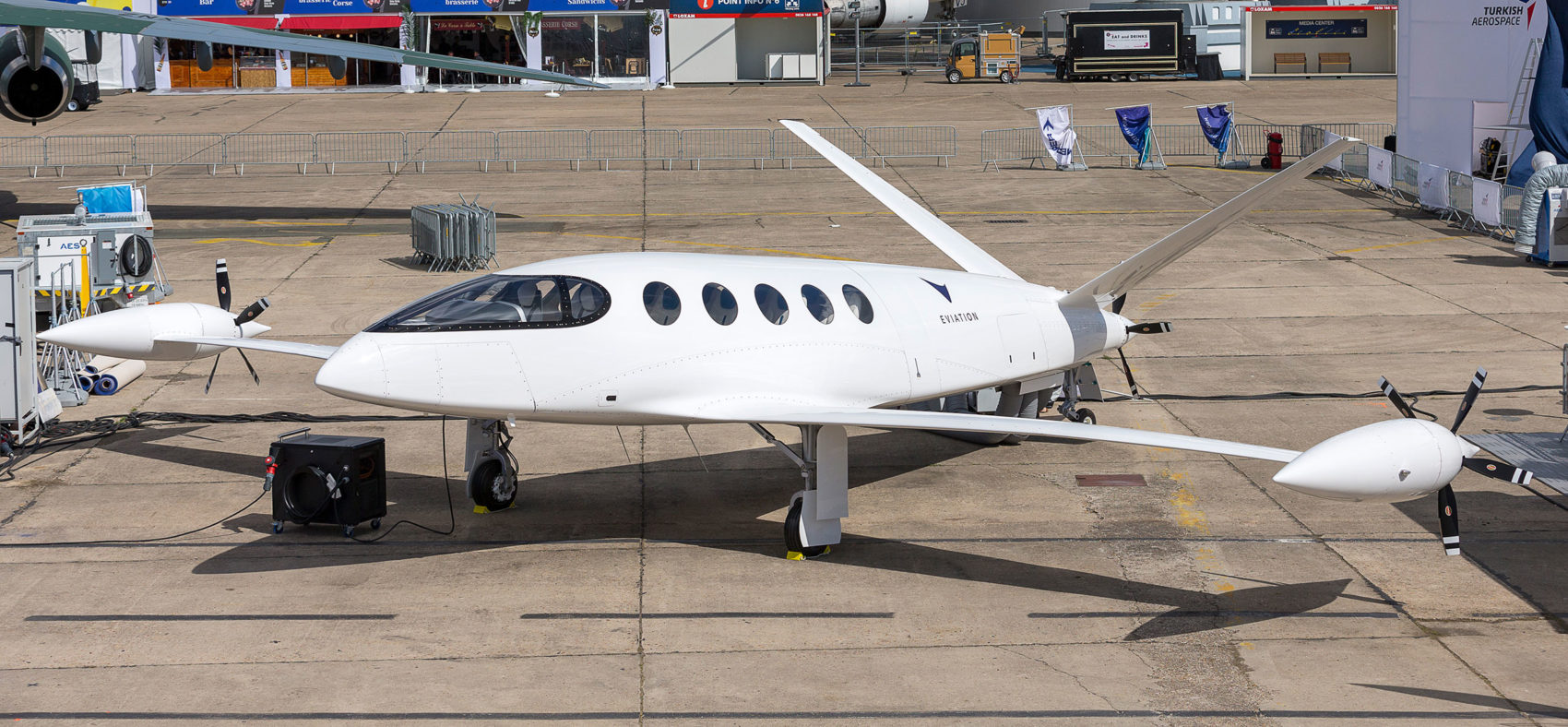 Eviation's Alice electric plane is seen at the Paris Air Show (Courtesy of Eviation)