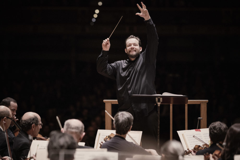 Andris Nelsons conducting the BSO. (Courtesy Marco Borggreve)