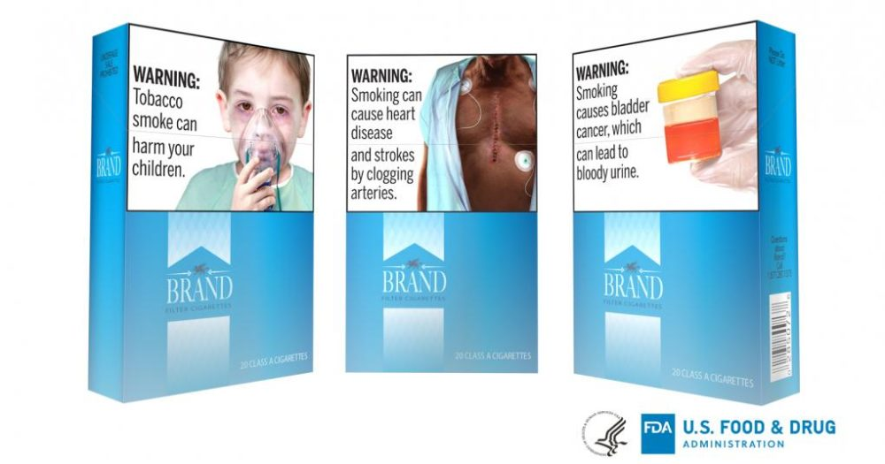 Example of the FDA's new graphic health warnings for cigarette packs. (Courtesy of the Food and Drug Administration)