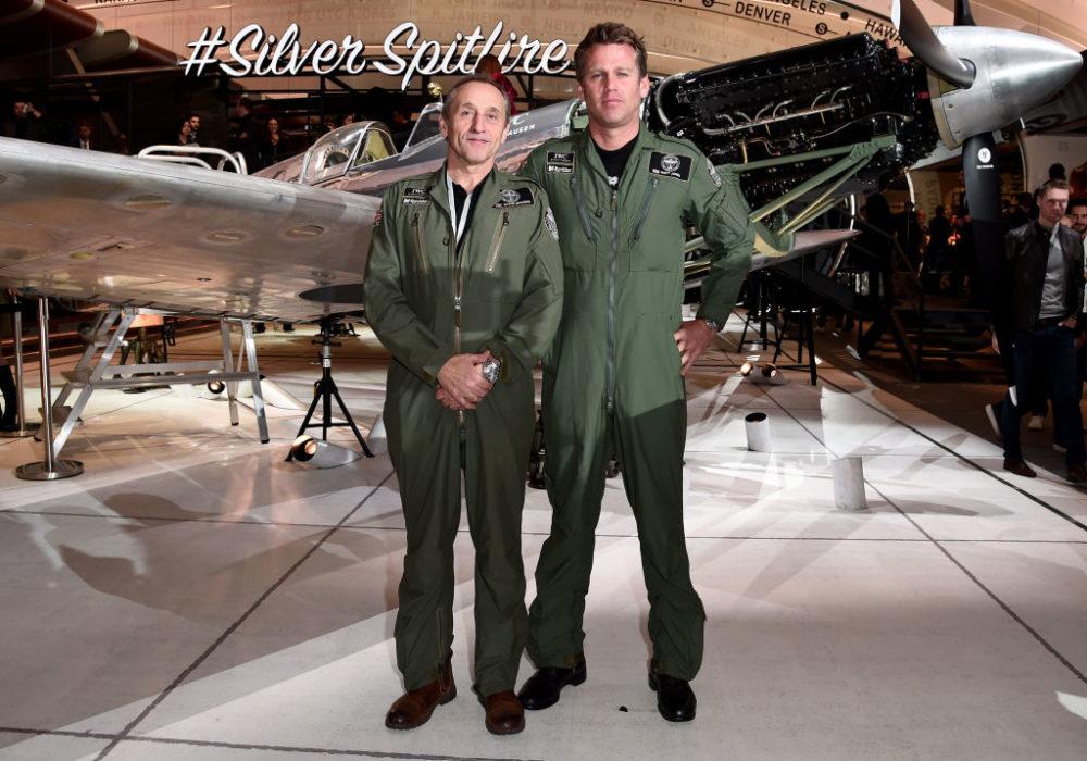 Pilots Steve Brooks (L) and Matt Jones in Geneva, Switzerland. (Eamonn M. McCormack/Getty Images for IWC)