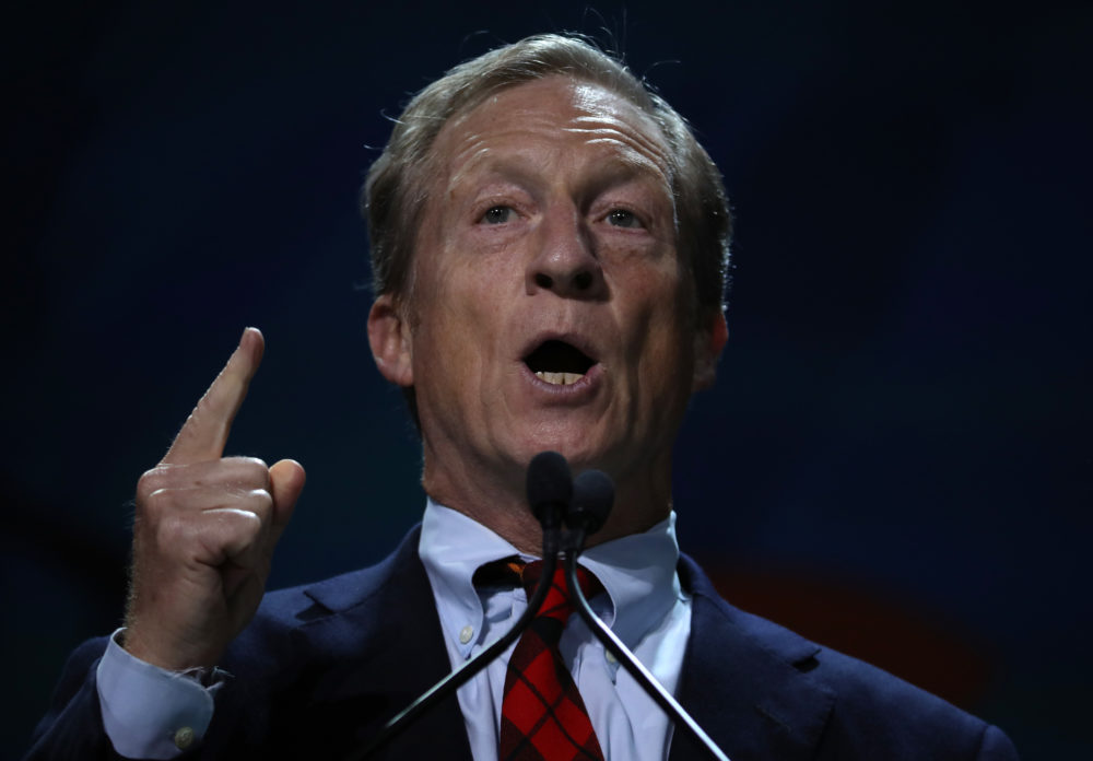 Tom Steyer speaks during the California Democrats 2019 State Convention at the Moscone Center on June 1 in San Francisco, California. (Justin Sullivan/Getty Images)