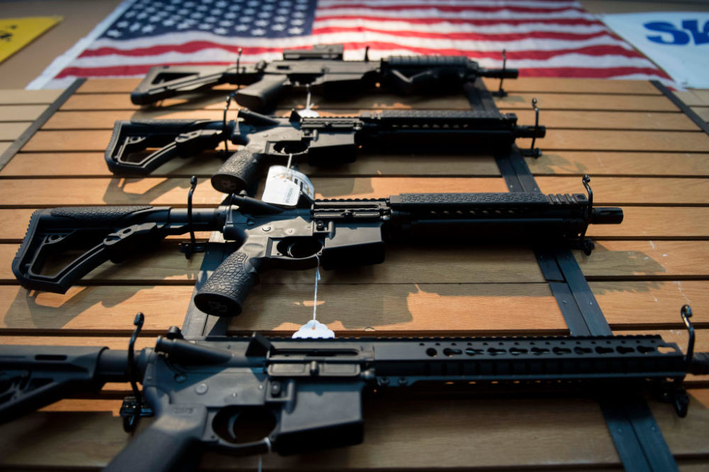 San Jose Mayor Sam Liccardo has proposed introducing a gun insurance requirement for all gun owners except police, less than a month after a mass shooting in Gilroy, California. (Jim Watson/AFP/Getty Images)