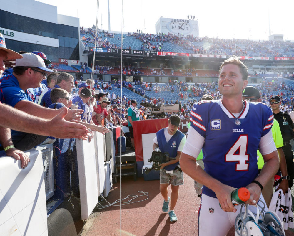 Bills kicker Stephen Hauschka's football career began at Middlebury College in Vermont. (Tom Szczerbowski/Getty Images)