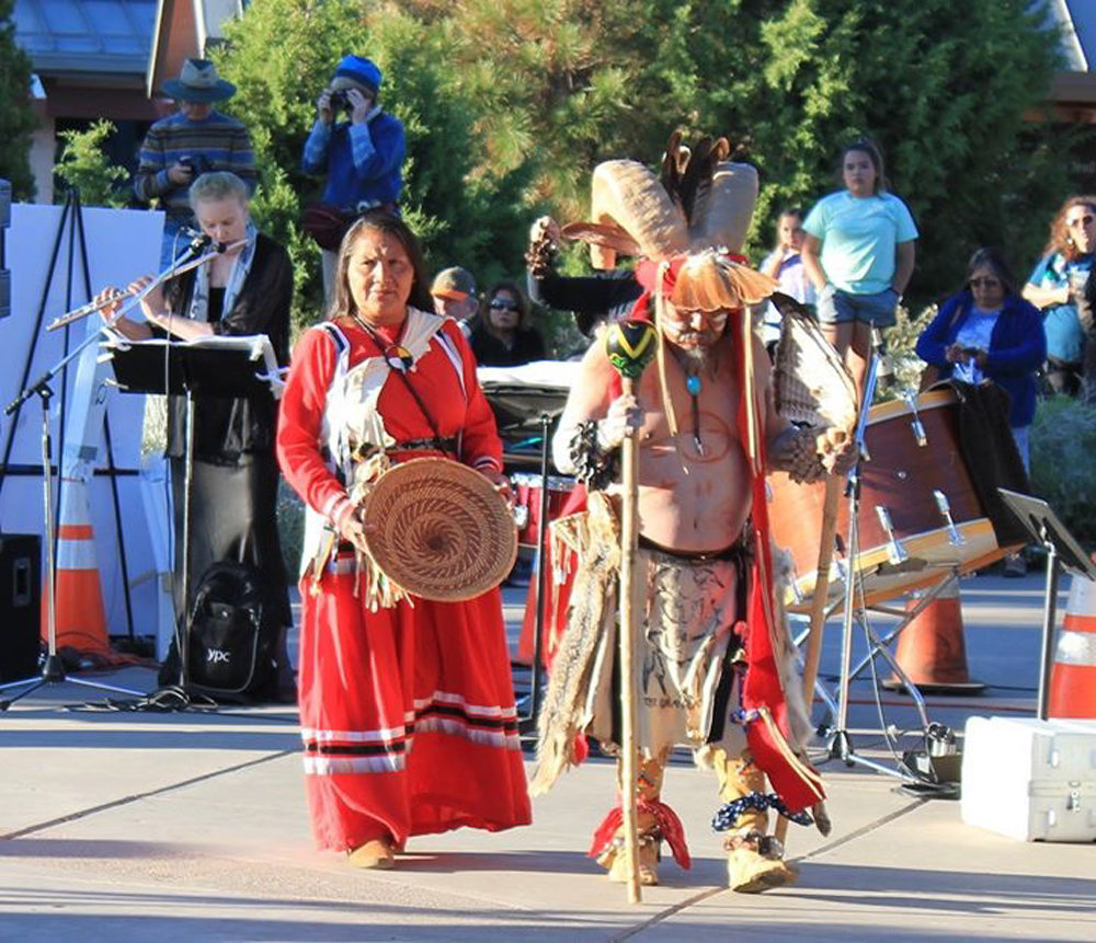 The Havasupai Guardians of the Grand Canyon performance on June 22, 2019 at the Grand Canyon Music Festival. (Courtesy of Clare Hoffman)