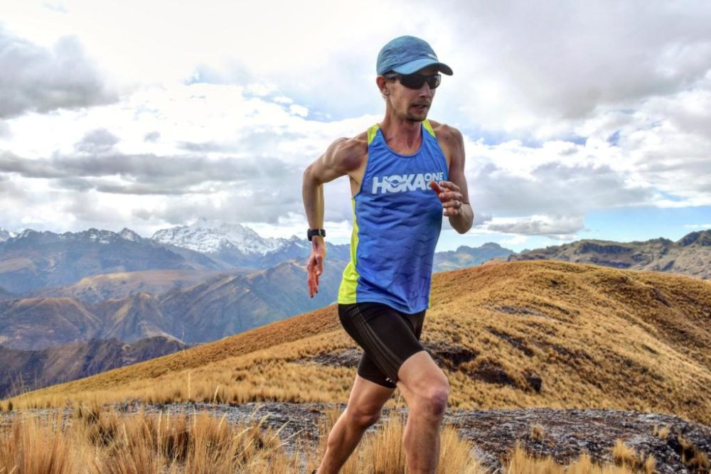 American runner Tyler Andrews finished Peru's 40-mile Salkantay Trail in about six hours. (Photo by Melanie Ng)