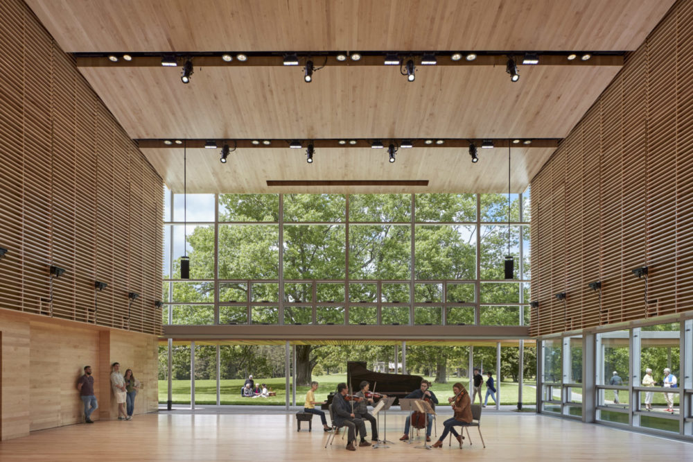 Studio E is the Tanglewood Linde Center for Music and Learning's largest practice and performance space. (Courtesy of Robert Benson)