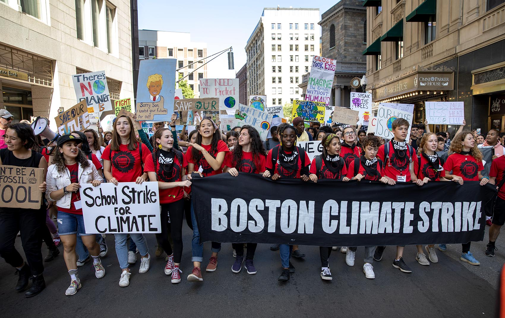 Vermont students take to the streets in climate strike