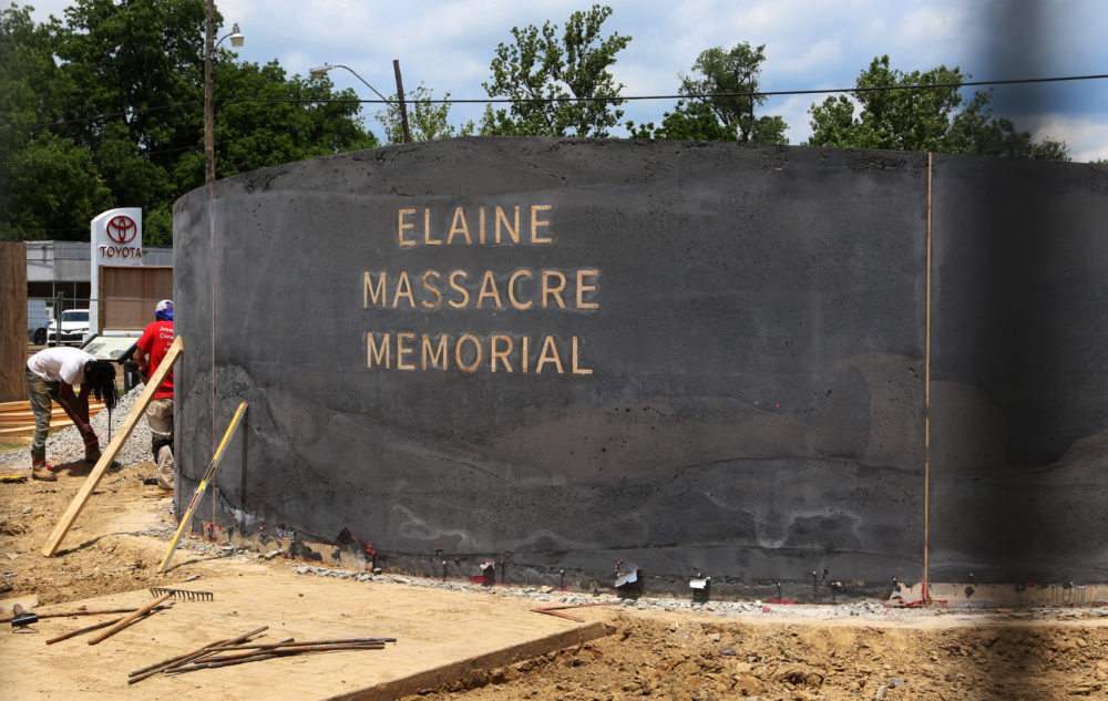 The Elaine Massacre Memorial is set to be unveiled in September and is being chaired by some descendants of the massacre's perpetrators and victims. (Noreen Nasir/AP)