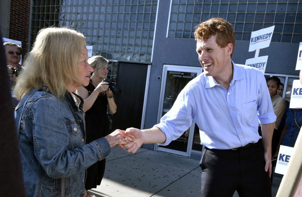 U.S. Rep. Joe Kennedy III,  announces his candidacy for the Senate in Boston. (Josh Reynolds/AP)