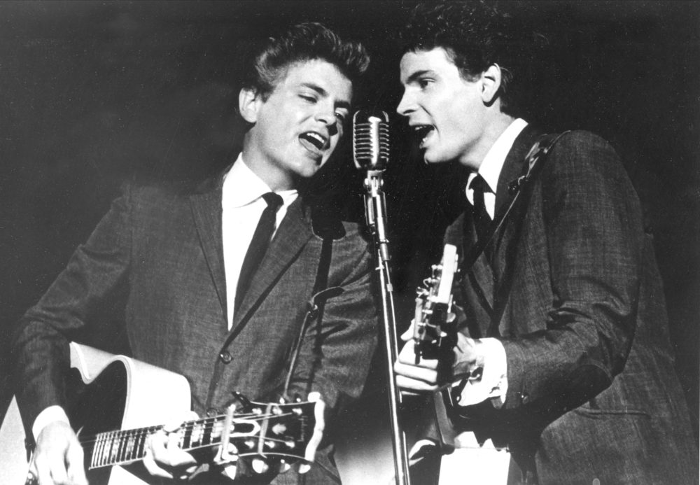 The Everly Brothers, Don and Phil, perform on July 31, 1964.  (AP file photo)