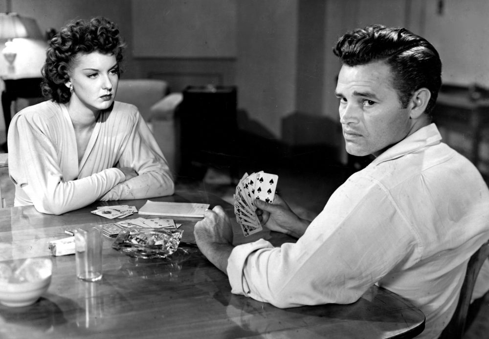 "Ann Savage and Tom Neal in ""Detour"" (1945), directed by Edgar G. Ulmer. (Courtesy PhotoFest)"
