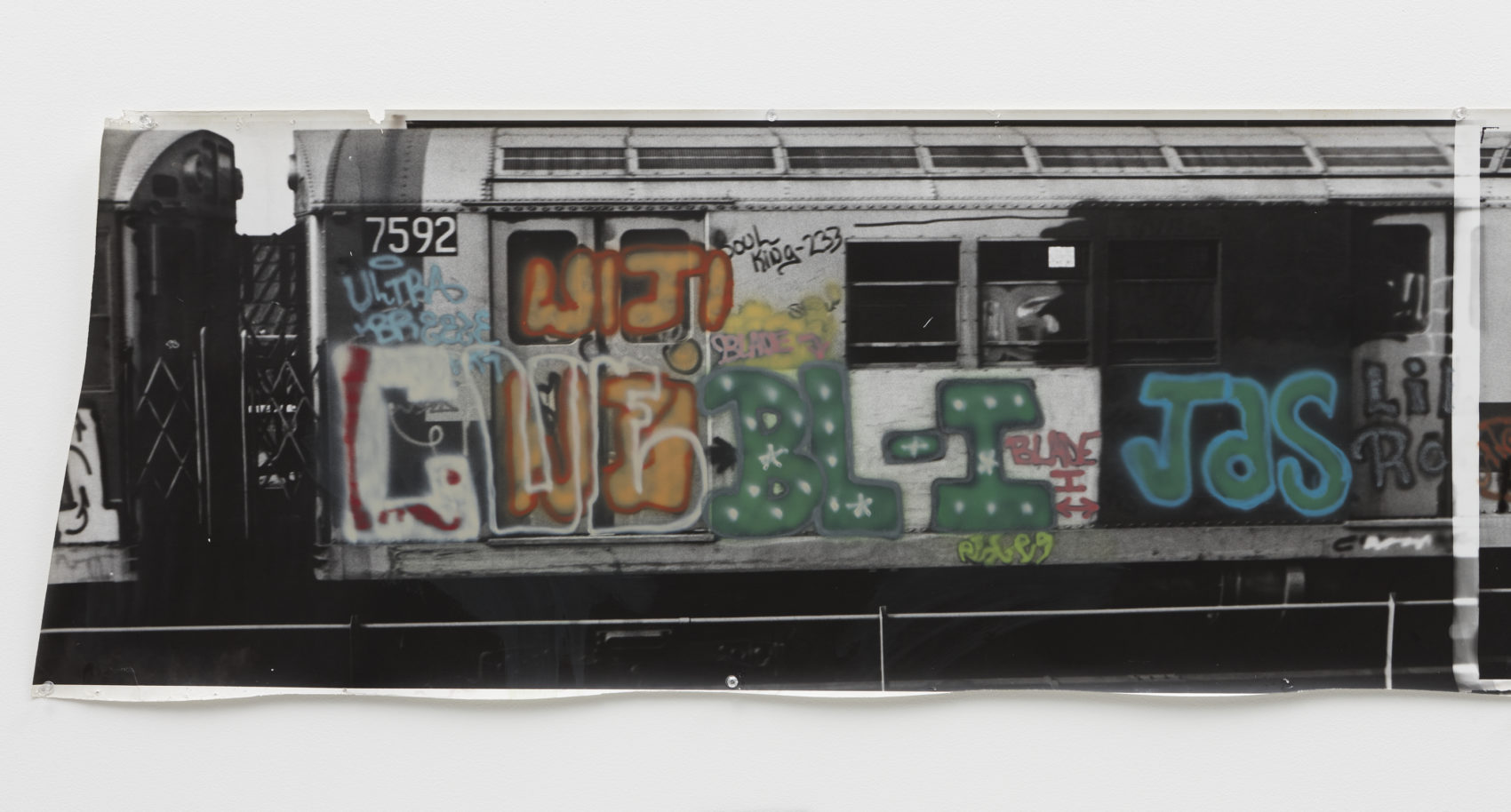 "Gordon Matta-Clark, ""Graffiti Photoglyph,"" 1973. (Courtesy of the estate of Gordon Matta-Clark and David Zwirner)"