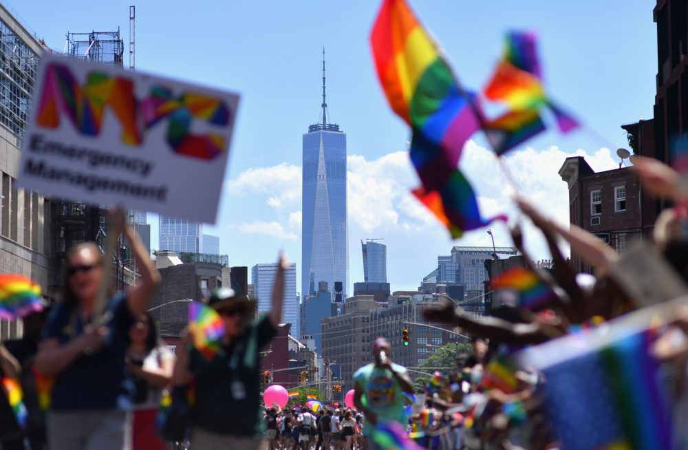 Participants take part in the NYC Pride March as part of World Pride commemorating the 50th Anniversary of the Stonewall Uprising on June 30, 2019. (Angela Weis/AFP/Getty Images)