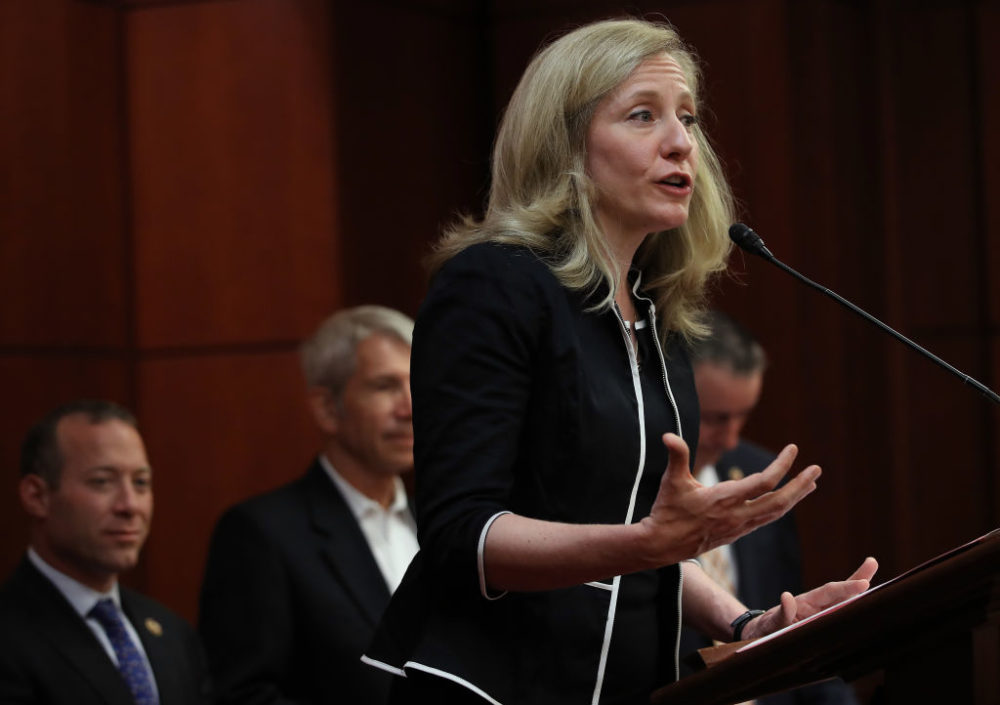 Rep. Abigail Spanberger speaks during a press conference held by the bipartisan and bicameral Problems Solvers Caucus at the U.S. Capitol. (Win McNamee/Getty Images)